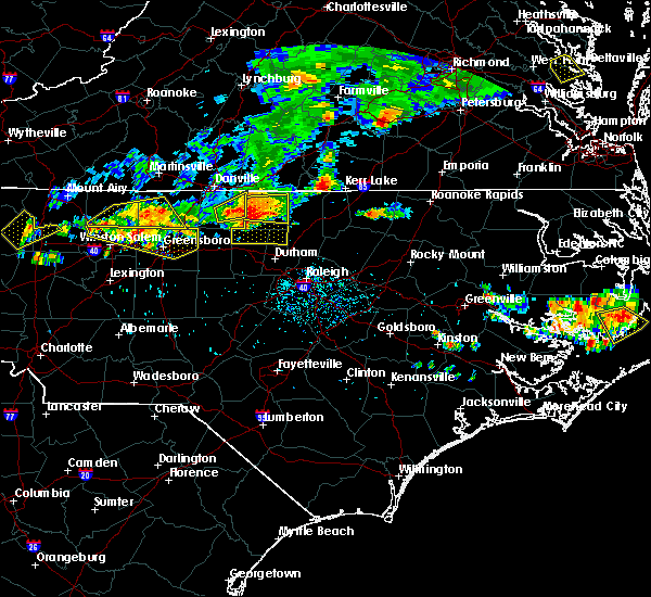 Radar Image for Severe Thunderstorms near Clarksville, VA at 7/27/2016 6:47 PM EDT