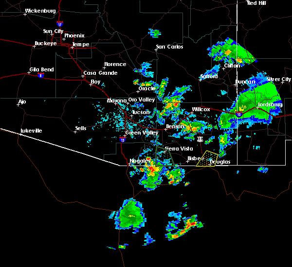 Radar Image for Severe Thunderstorms near Douglas, AZ at 7/27/2016 5:17 PM MST
