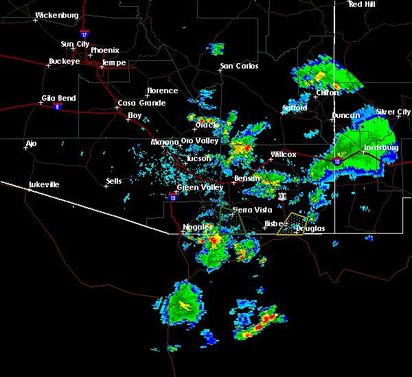 Radar Image for Severe Thunderstorms near Beyerville, AZ at 7/27/2016 5:24 PM MST
