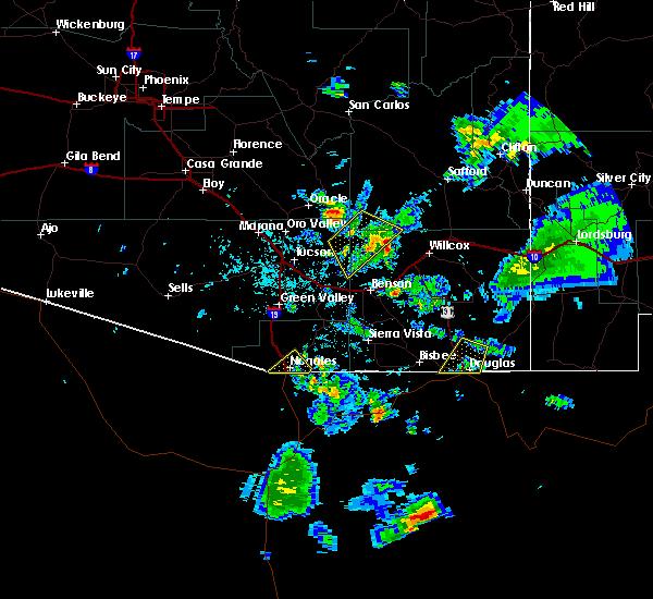 Radar Image for Severe Thunderstorms near Douglas, AZ at 7/27/2016 5:41 PM MST