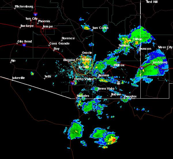 Radar Image for Severe Thunderstorms near Beyerville, AZ at 7/27/2016 6:05 PM MST