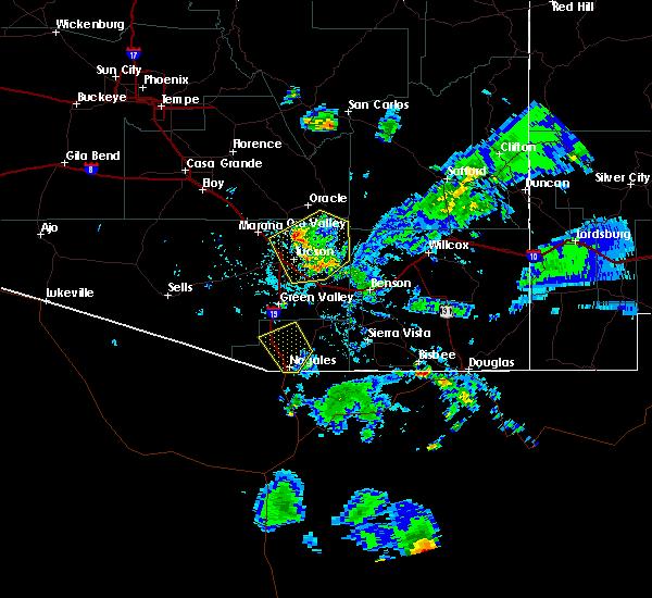 Radar Image for Severe Thunderstorms near Beyerville, AZ at 7/27/2016 6:30 PM MST