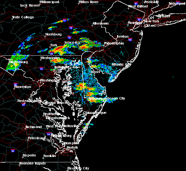 Radar Image for Severe Thunderstorms near Milford, DE at 7/28/2016 1:25 PM EDT