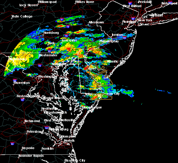 Radar Image for Severe Thunderstorms near Dover, DE at 7/28/2016 2:34 PM EDT