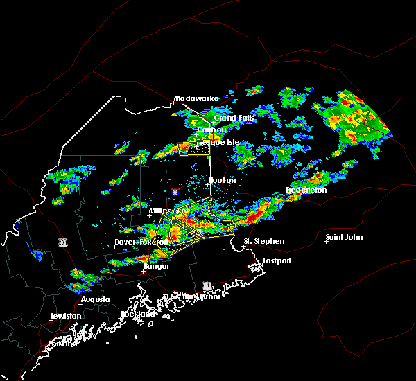 Radar Image for Severe Thunderstorms near Presque Isle, ME at 7/28/2016 2:59 PM EDT