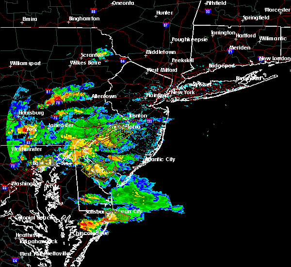 Radar Image for Severe Thunderstorms near Clayton, NJ at 7/28/2016 3:06 PM EDT