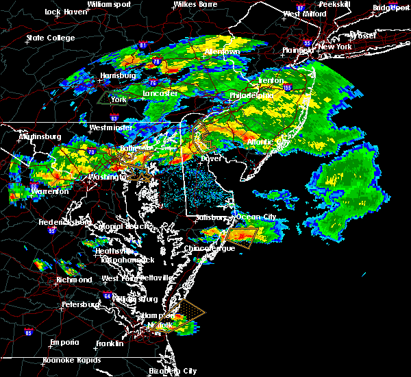 Radar Image for Severe Thunderstorms near Kingstown, MD at 7/28/2016 4:34 PM EDT