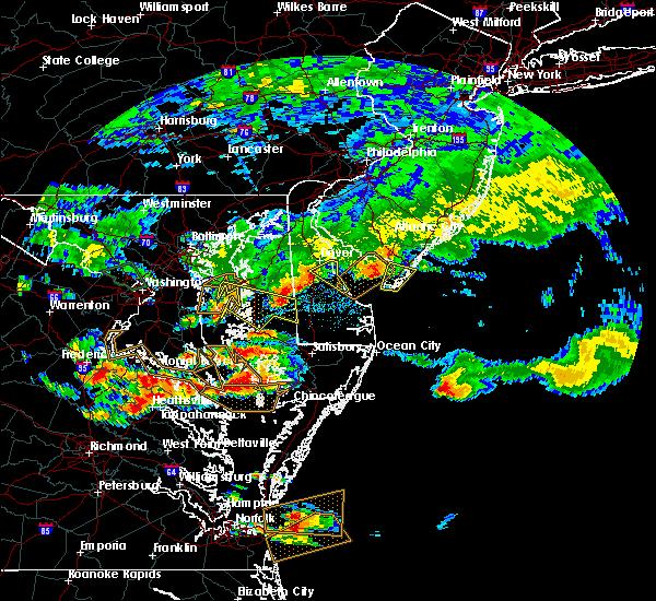 Radar Image for Severe Thunderstorms near Rio Grande, NJ at 7/28/2016 6:18 PM EDT