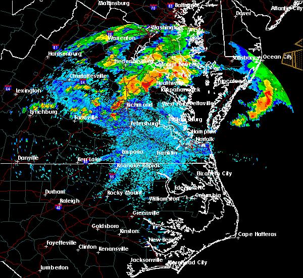 Radar Image for Severe Thunderstorms near Tappahannock, VA at 7/28/2016 9:47 PM EDT
