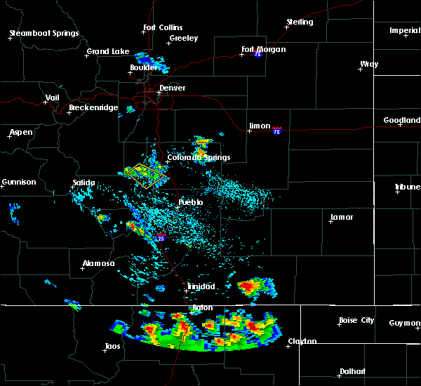 Radar Image for Severe Thunderstorms near Midland, CO at 7/29/2016 3:28 PM MDT