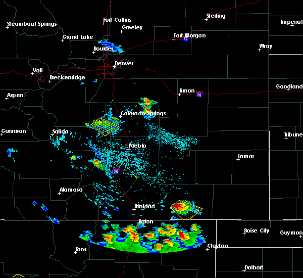 Radar Image for Severe Thunderstorms near Midland, CO at 7/29/2016 3:41 PM MDT