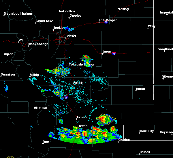 Radar Image for Severe Thunderstorms near Midland, CO at 7/29/2016 3:50 PM MDT