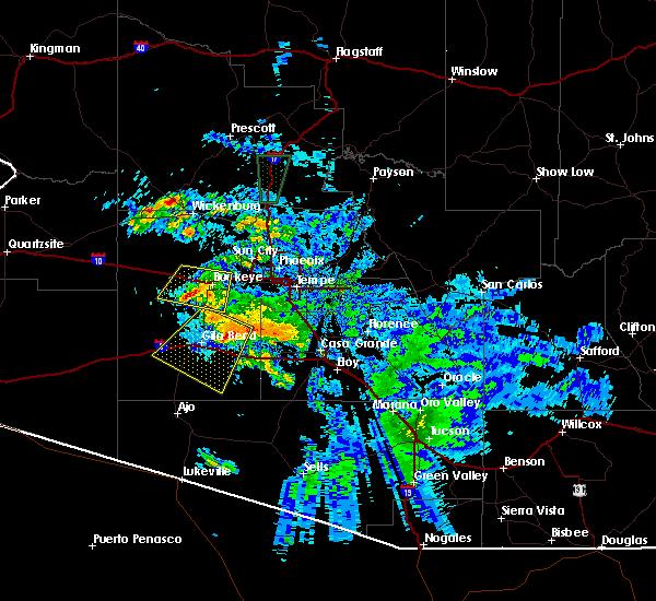 Radar Image for Severe Thunderstorms near Goodyear, AZ at 7/29/2016 9:20 PM MST