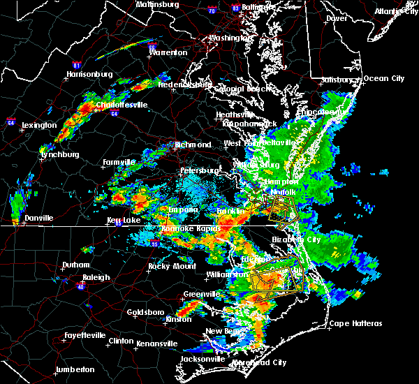 Radar Image for Severe Thunderstorms near Chesapeake, VA at 7/30/2016 4:06 PM EDT