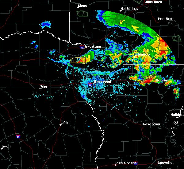 Radar Image for Severe Thunderstorms near Atlanta, TX at 7/30/2016 7:31 PM CDT