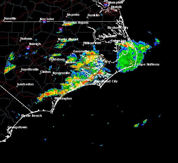 Radar Image for Severe Thunderstorms near Surf City, NC at 7/31/2016 3:24 PM EDT