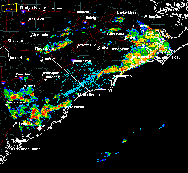 Radar Image for Severe Thunderstorms near Murrells Inlet, SC at 7/31/2016 3:24 PM EDT