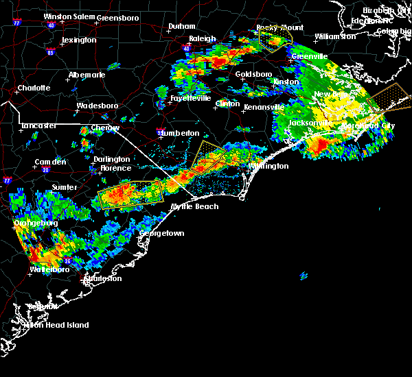 Radar Image for Severe Thunderstorms near Sandyfield, NC at 7/31/2016 4:56 PM EDT