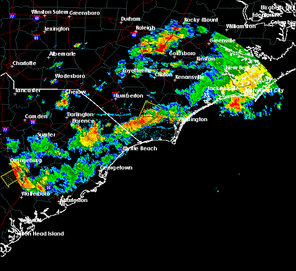 Radar Image for Severe Thunderstorms near Sandyfield, NC at 7/31/2016 5:14 PM EDT