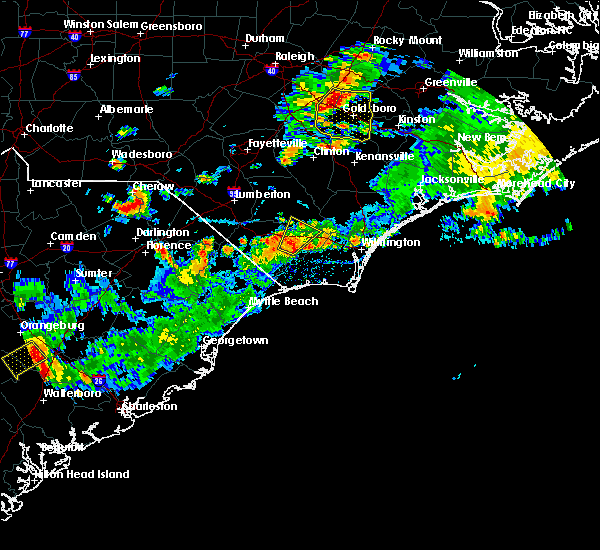 Radar Image for Severe Thunderstorms near Sandyfield, NC at 7/31/2016 5:32 PM EDT