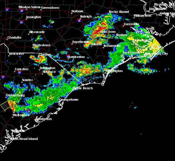 Radar Image for Severe Thunderstorms near Sandyfield, NC at 7/31/2016 5:44 PM EDT