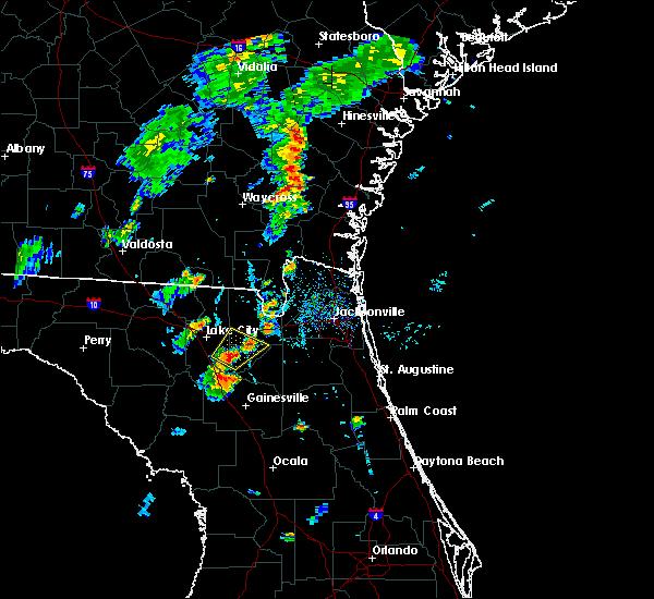 Radar Image for Severe Thunderstorms near Lake Butler, FL at 7/31/2016 6:31 PM EDT
