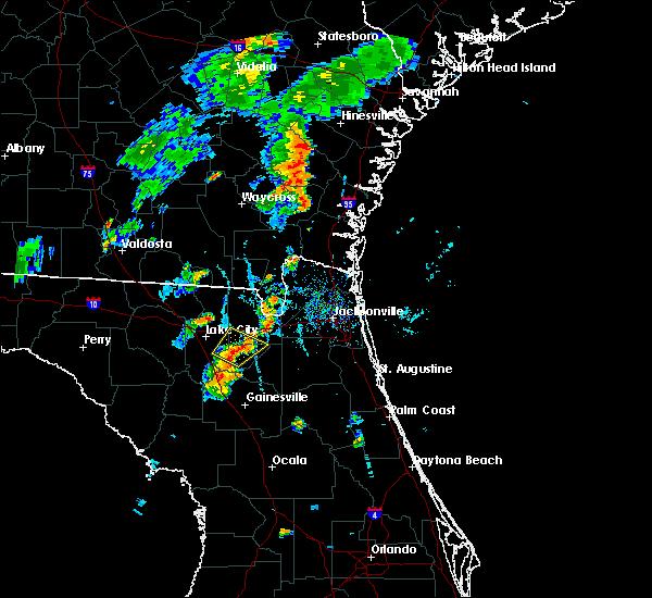 Radar Image for Severe Thunderstorms near Lake Butler, FL at 7/31/2016 6:41 PM EDT