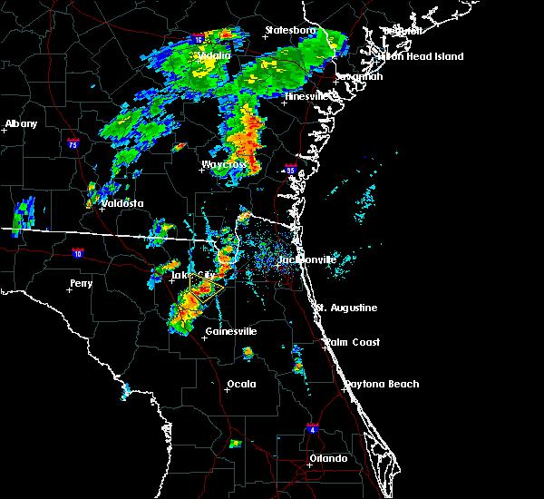 Radar Image for Severe Thunderstorms near Lake Butler, FL at 7/31/2016 6:52 PM EDT