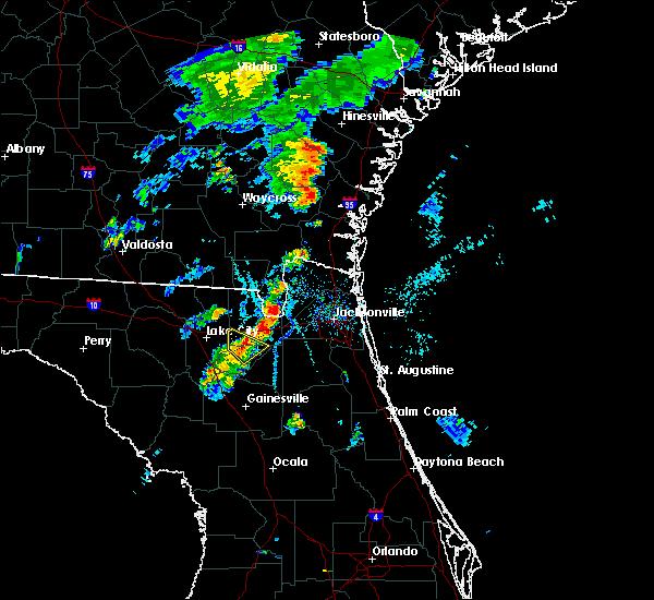 Radar Image for Severe Thunderstorms near Lake Butler, FL at 7/31/2016 7:08 PM EDT