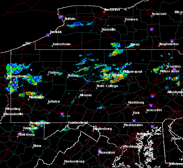 Radar Image for Severe Thunderstorms near Oval, PA at 7/31/2016 7:38 PM EDT