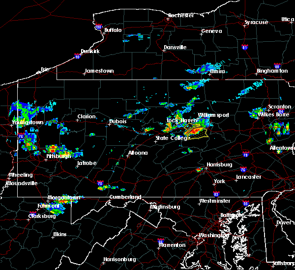Radar Image for Severe Thunderstorms near Oval, PA at 7/31/2016 8:12 PM EDT