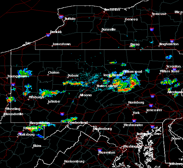 Radar Image for Severe Thunderstorms near Danville, PA at 7/31/2016 9:05 PM EDT