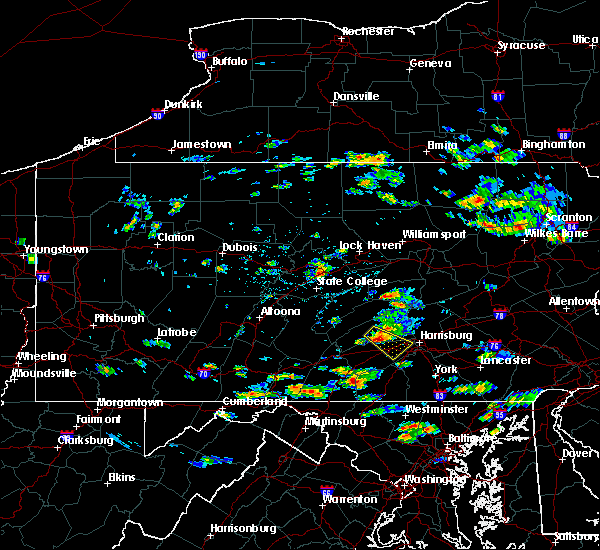 Radar Image for Severe Thunderstorms near Carlisle, PA at 8/1/2016 2:35 PM EDT