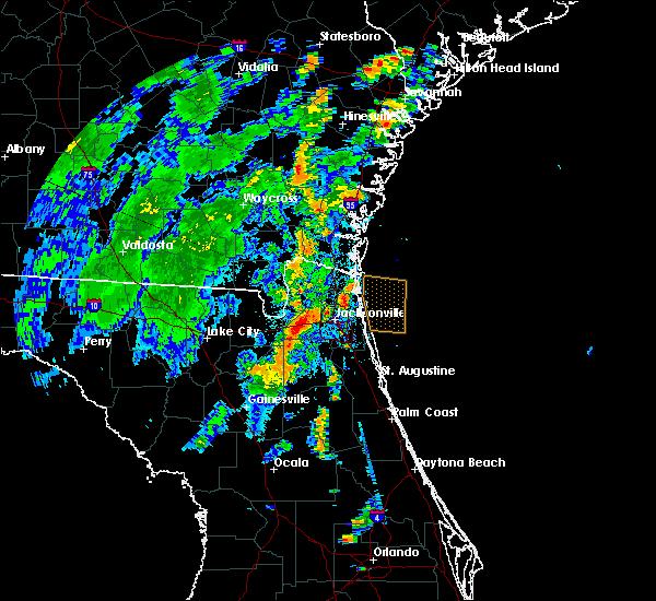 Radar Image for Severe Thunderstorms near Jacksonville, FL at 8/1/2016 5:34 PM EDT