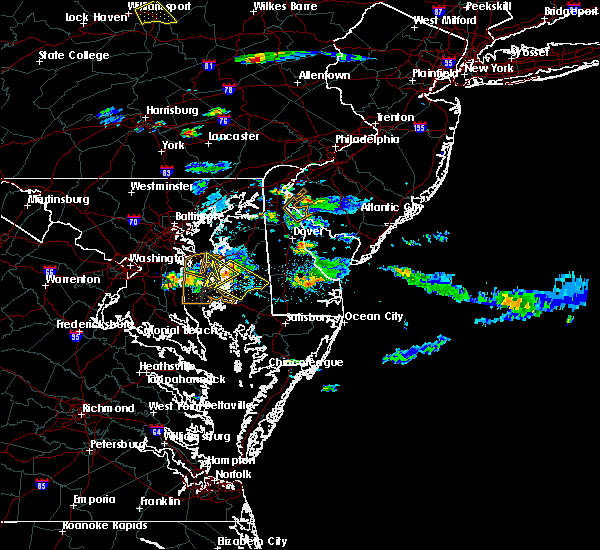Radar Image for Severe Thunderstorms near Easton, MD at 8/1/2016 6:31 PM EDT