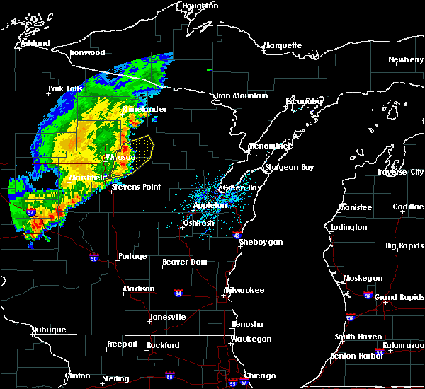 Radar Image for Severe Thunderstorms near Aniwa, WI at 8/4/2016 12:24 PM CDT