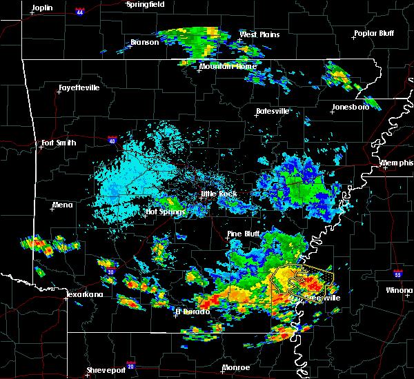 Radar Image for Severe Thunderstorms near Arkansas City, AR at 8/6/2016 2:40 PM CDT