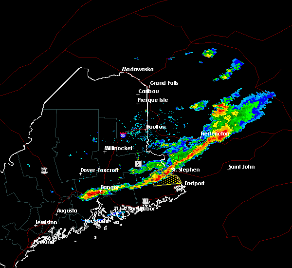 Radar Image for Severe Thunderstorms near Woodland, ME at 8/6/2016 3:40 PM EDT