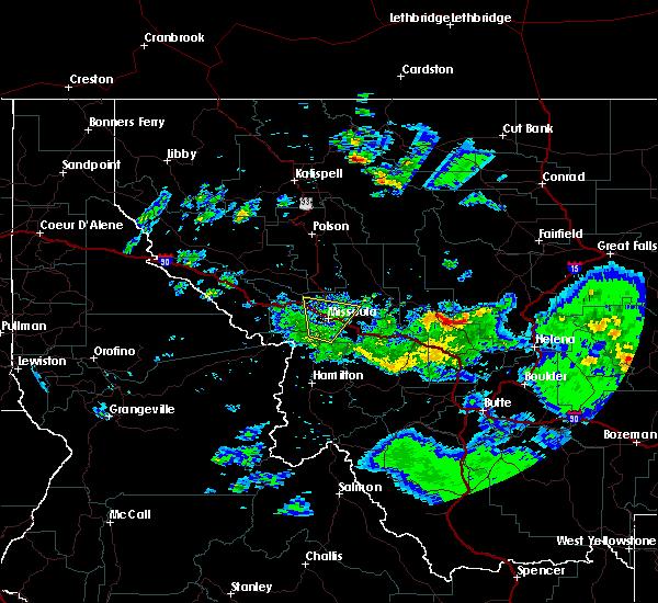 Radar Image for Severe Thunderstorms near Piltzville, MT at 8/6/2016 4:58 PM MDT