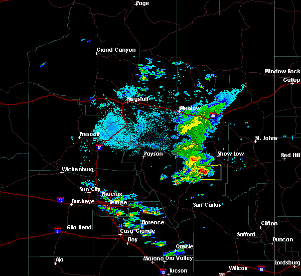 Radar Image for Severe Thunderstorms near Cedar Creek, AZ at 8/11/2016 4:08 AM MST