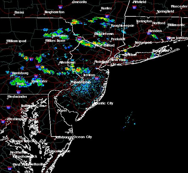 Radar Image for Severe Thunderstorms near Kingston, NJ at 8/11/2016 4:19 PM EDT
