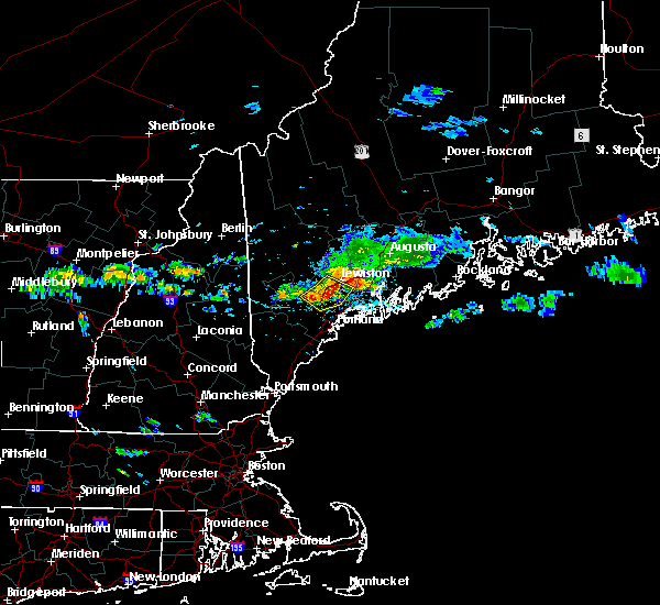 Radar Image for Severe Thunderstorms near Bath, ME at 8/12/2016 2:40 PM EDT