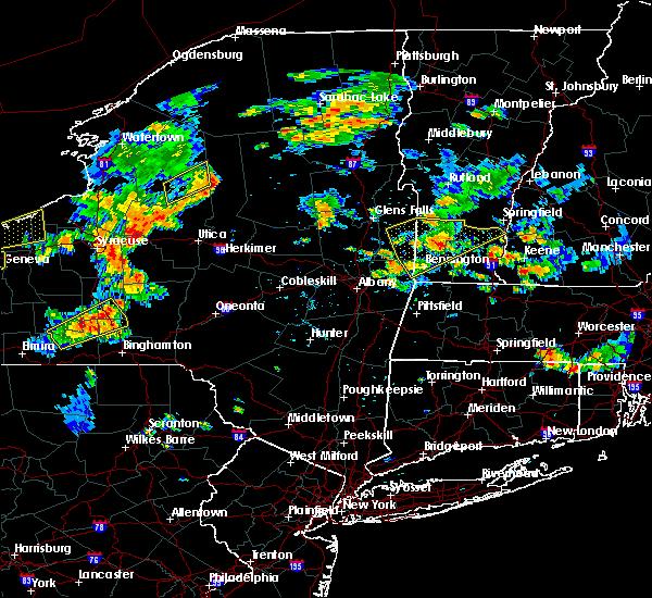 Radar Image for Severe Thunderstorms near Salem, NY at 8/13/2016 5:02 PM EDT
