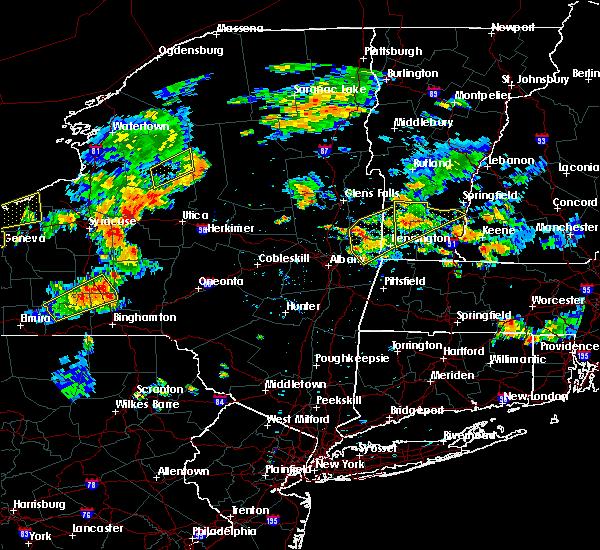 Radar Image for Severe Thunderstorms near Salem, NY at 8/13/2016 5:03 PM EDT