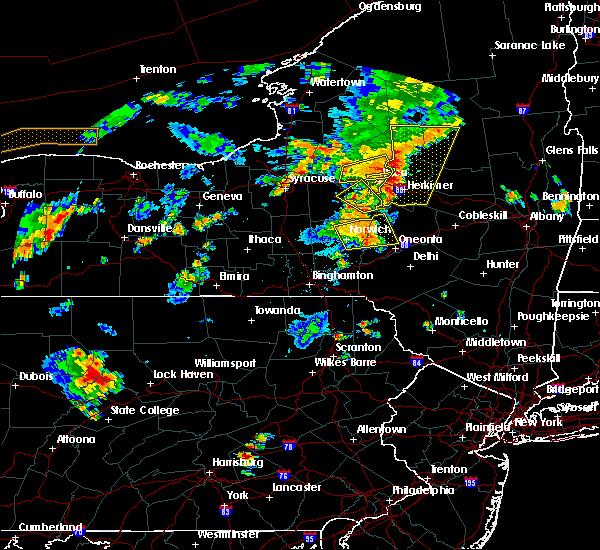 Radar Image for Severe Thunderstorms near Gilbertsville, NY at 8/13/2016 5:49 PM EDT