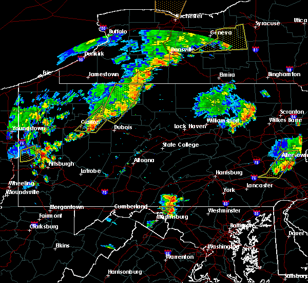 Radar Image for Severe Thunderstorms near Force, PA at 8/13/2016 8:14 PM EDT