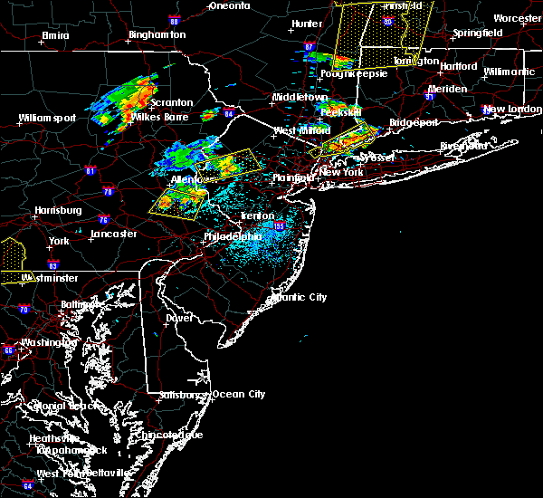 Radar Image for Severe Thunderstorms near Kenvil, NJ at 8/13/2016 8:51 PM EDT