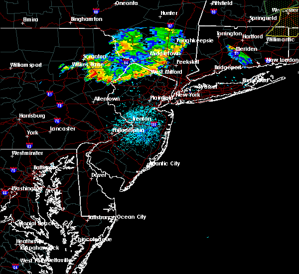 Radar Image for Severe Thunderstorms near Mountain Lake, NJ at 8/13/2016 11:19 PM EDT