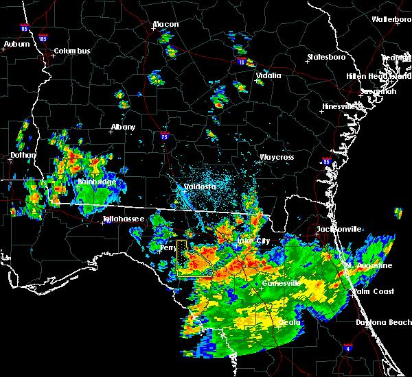 Radar Image for Severe Thunderstorms near Branford, FL at 8/14/2016 6:05 PM EDT