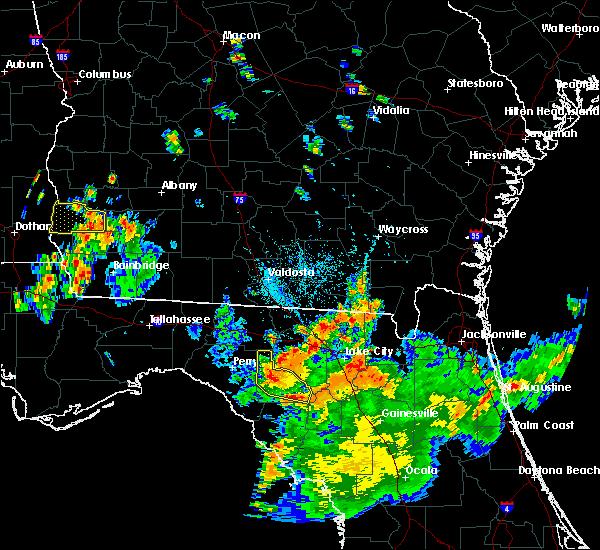 Radar Image for Severe Thunderstorms near Branford, FL at 8/14/2016 6:24 PM EDT